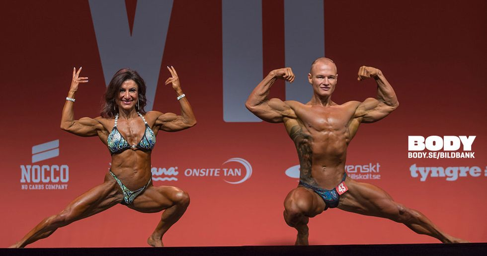 Bodybuildning Par Tyngre Classic 7