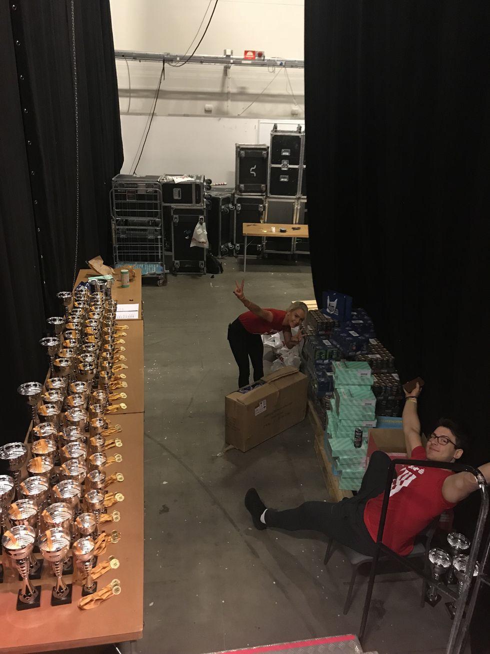 Tyngre prisutdelare backstage